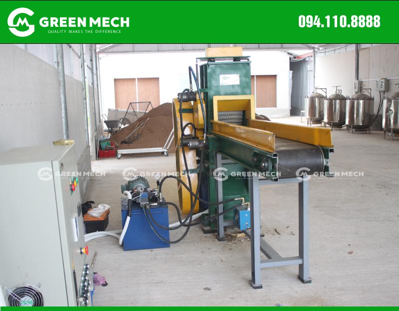 Máy ngiền gỗ mini GREEN MECH lắp đặt tại Phú Quốc